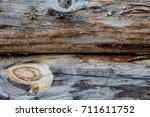 the texture of the wood. cross... | Shutterstock . vector #711611752