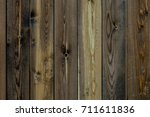 the texture of the wood. an old ... | Shutterstock . vector #711611836