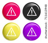 caution sign multi color glossy ...