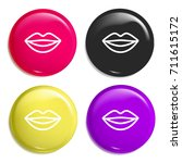 smiling lips multi color glossy ...