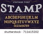 script handcrafted vector... | Shutterstock .eps vector #711615202