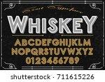 font handwritten vector... | Shutterstock .eps vector #711615226