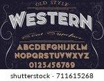 font handwritten vector...   Shutterstock .eps vector #711615268