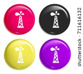 oil tower multi color glossy...