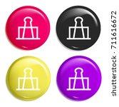 clip multi color glossy badge...