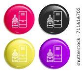 tears multi color glossy badge...