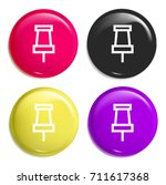 push pin multi color glossy...