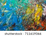 multicolored abstraction of... | Shutterstock . vector #711619366
