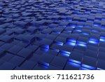 a landscape with many blue... | Shutterstock . vector #711621736