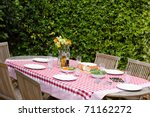 A Lunch Table In The Garden