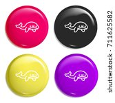 whale multi color glossy badge...