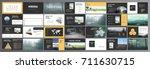 original presentation templates ... | Shutterstock .eps vector #711630715