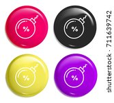 bomb multi color glossy badge...