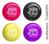 money multi color glossy badge...