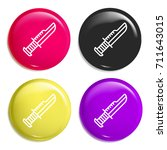 knife multi color glossy badge...
