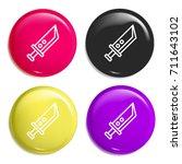 knife multi color glossy badge...