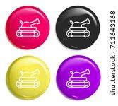 tank multi color glossy badge...