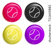 ball multi color glossy badge...