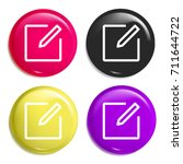 write multi color glossy badge...