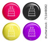 cake multi color glossy badge...