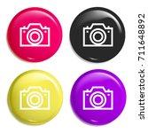 camera multi color glossy badge ...