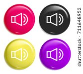 audio multi color glossy badge...