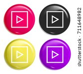 play multi color glossy badge...