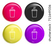 coffee multi color glossy badge ...