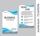 vector brochure flyer design... | Shutterstock .eps vector #711650356