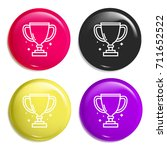 trophy multi color glossy badge ...