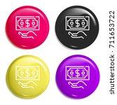 refund multi color glossy badge ...