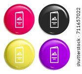 flyer multi color glossy badge...