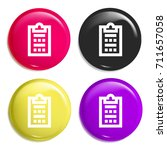 survey multi color glossy badge ... | Shutterstock .eps vector #711657058