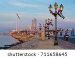 abu dhabi corniche kasr al... | Shutterstock . vector #711658645