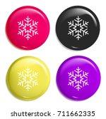 snowflake multi color glossy...