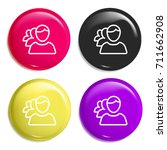 group multi color glossy badge...