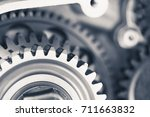 engine gear wheels ... | Shutterstock . vector #711663832