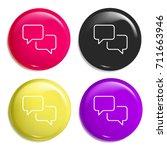 speech bubbles multi color...