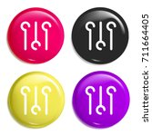 levels multi color glossy badge ...