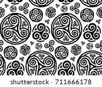 grunge style vector hand drawn... | Shutterstock .eps vector #711666178