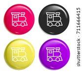 train multi color glossy badge...