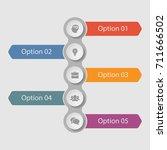 vector infographic template for ...   Shutterstock .eps vector #711666502
