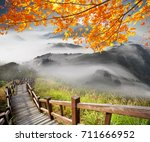 the imaging of mountain trail... | Shutterstock . vector #711666952