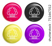 forest multi color glossy badge ...