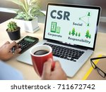 corporate social responsibility ... | Shutterstock . vector #711672742