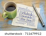 think outside the box concept   ... | Shutterstock . vector #711679912