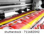 large printer format inkjet... | Shutterstock . vector #711682042