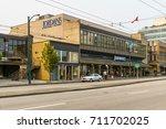 west broadway vancouver canada  ... | Shutterstock . vector #711702025