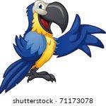 cute cartoon blue macaw. vector ... | Shutterstock .eps vector #71173078