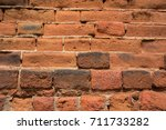 old brick wall texture for...   Shutterstock . vector #711733282